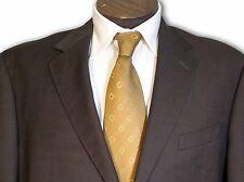 $2295 Pinnacle Clothiers Dk Chocolate  Brown 2 Button Suit 42 42L C092