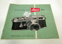 Leica Leitz leaflet Prospekt vintage original Leica M3 1954 /17