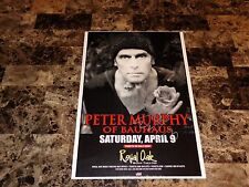 Peter Murphy Rare Authentic Signed Concert Show Gig Poster Indie Cult Bauhaus