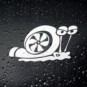 Turbo Snail Funny Car Sticker - JDM Drift Euro Dub Diesel TDi Bumper Window