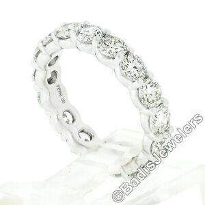 Classic Platinum 2.55ctw Shared Prong Round Diamond Eternity Wedding Band Ring
