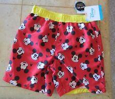 Swimwear Sz 24 Month Disney Micky Mouse Swim Trunk Mesh Lined NWT Boys