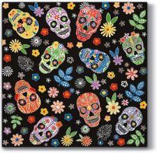 4 x Single Paper Table Napkin/Decoupage/Dining/Craft/Gothic/Skulls/Skullmania