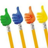 Pack of 6 - Thumbs Up Pencil Toppers Erasers Rubbers Teacher Supplies School