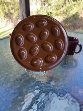 "FIESTA 11.1"" EGG TRAY PLATE PLATTER chocolate brown NEW"