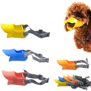 Cute Duck Silicone Dog Muzzles Dogs Anti Biting Barking Eating AccessoriesL MB