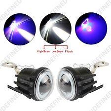 Motorcycle LED Flash Blue Angel Eye Ring Fog Light Lamp Mirror Mount For Suzuki