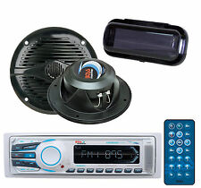 "New BOSS MR1308UAB Boat Mechless MP3 AM/FM Bluetooth Player+5.25"" 150WSpkr+Cover"
