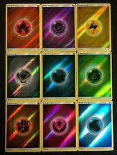 Pokemon -  Energy Complete 9 Card Set - Reverse Holo - Hidden Fates - NM/M