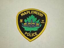 Maplewood NJ New Jersey Police Shield Shape Iron On Shoulder Patch