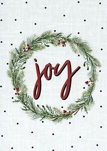 Joy Peace Holiday Season Greetings Christmas Gold Polka Dot Cards -  Set of 19