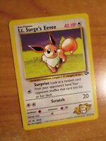 LP (Unlimited) Pokemon LT. SURGE'S EEVEE Card GYM CHALLENGE 51/132 UNCOMMON