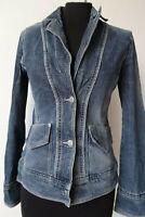 Blazer jeans donna elasticizzata giacca taglia S 38 uk 6 MANGO