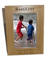 Brothers in legno Photo Frame 6x8-personalizzare questo riquadro-INCISIONE GRATUITA