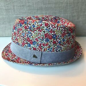 New Era EK Liberty of London Art Fabrics Floral Fedora Hat Size M