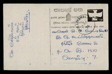 DR WHO 1976 SRI LANKA MULLIYAWALAI POSTAL CARD STATIONERY C171452