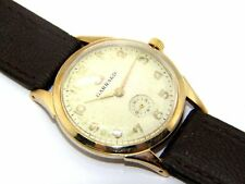Gents/mens 9ct 9carat gold vintage wristwatch by Garrard 1963