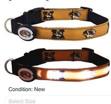 Dog-E-Glow University of Missouri Mizzou Lighted LED Large Dog Collar