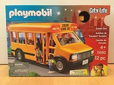 Playmobil 5680 City Life School Bus with Flashing Lights - NEW