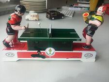 VINTAGE WIND UP TIN TOY MINI tennis da tavolo un orologio classico Giocattoli Retrò Ping Pong
