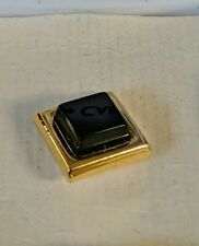 Vintage Pierre Cardin Genuine Onyx and Gold Plated Tie Tack
