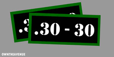 """.30-30 Ammo Can -Labels for Ammunition Case 3.5"""" x 1.50"""" stickers decals(2PACK)"""