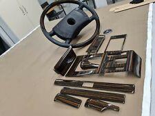 Mercedes Benz W123 Wood Trim Set Ebony Wood Steering wheel Makkasar W123 Coupe