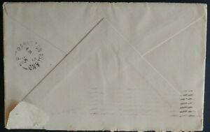 BARNSTON ISLAND   BC British Columbia 1916 Split Cds as receiver (Letter enclose