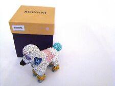 RUCINNI Jeweled Trinket Hinged Box - Gorgeous Poodle Jeweled