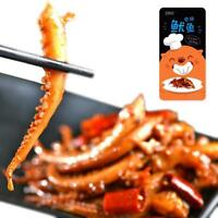 14g Chinese Popular Delicious BBQ Squid Hot Spicy Strips Snack Food P8G9