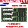 For Samsung 4/8/16/32GB PC4-2133/2400 PC3-8500/10600/14900 ECC Server Memory LOT
