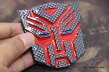 B148 Transformers Auto 3D Emblem Badge Aufkleber PKW KFZ emblema Car Sticker rot