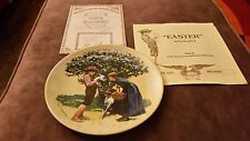 Vintage Easter Plate by Don Spaulding Retired 1980 8 And I/2 Inches