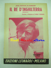 NINO FERRER Il re d'inghilterra 1968 RARO SPARTITO SINGOLO italy cd lp dvd mc