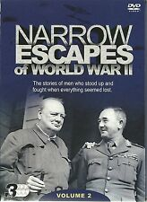 NARROW ESCAPES OF WORLD WAR II ESCAPE - VOLUME 2 - 3 DVD SET - WORLD WAR TWO WW2