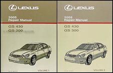 2005 Lexus GS 300 430 Shop Manual Original 2 Volumes GS300 GS430 Repair Service