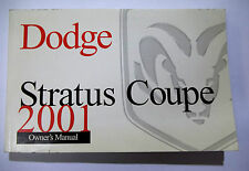 2001 Dodge Stratus Coupe Owners Manual Book