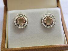 Clogau Silver & Rose Welsh Gold Am Byth Diamond Stud Earrings RRP £280.00