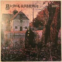 BLACK SABBATH SELF TITLED LP NEMS UK 1976 REISSUE PRO CLEANED