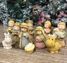 Pastel Children's Nativity Scene Set 11 Figures Christmas Ornament 89915