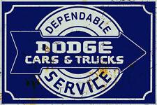 METAL MOPAR DODGE SERVICE BUILDING GARAGE DIORAMA LAYOUT SIGN 3x2 DD160