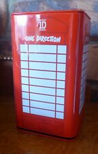 ONE DIRECTION 1D Money Box (Red Phone Box Shape) 16cm high x 9cm wide