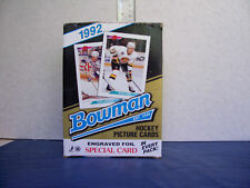 1992 BOWMAN HOCKEY 36 PACK BOX 67 HALL OF FAMERS IN BASE SET OF 443 CARDS
