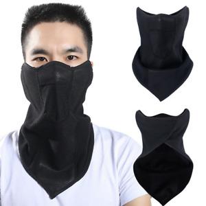 Winter Fleece Skis Motorcycle Windproof Mask Black Solid Color Neck Warmer