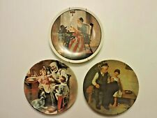 Set of 3 Norman Rockwell Heritage Series Mother's Day Knowles Collection Plates