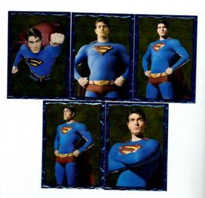 (5) CARD LOT - 2006 Topps - Superman Returns - Embossed Foil Set #1-5