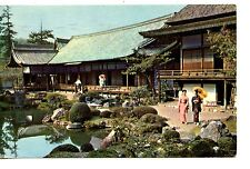 Temple Garden-Kyoto-Japan-Pan American Airline-1970 Vintage Advertising Postcard