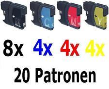 20x cartouche pour imprimante Brother DCP195C MFC585CW MFC6690CW MFC250C MFC