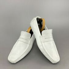 Louis Vuitton driving car loafer moccasin white leather 11.5 US 44,5 EUR FA0035