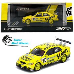"INNO64 TOYOTA ALTEZZA (Yellow) #163 ""H FACTORY"" N1 SUPER TAIKYU 2002"